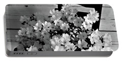 Country Porch In B And W Portable Battery Charger by Sherry Hallemeier