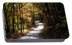 Portable Battery Charger featuring the photograph Country Road by David Dehner