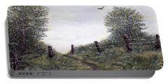 Portable Battery Charger featuring the painting Country Road by Judy Kirouac