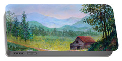 Country Roads Portable Battery Charger by Lou Ann Bagnall