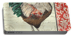 Country Rooster 1 Portable Battery Charger by Debbie DeWitt