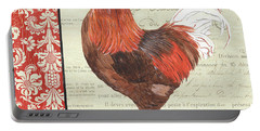 Country Rooster 2 Portable Battery Charger by Debbie DeWitt