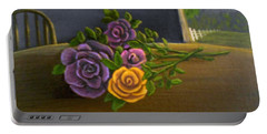 Country Roses Portable Battery Charger