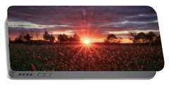 Portable Battery Charger featuring the photograph Country Sunset by Mark Dodd