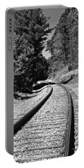 Country Tracks Black And White Portable Battery Charger