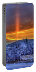 Country Winter Sun Pillar Portable Battery Charger