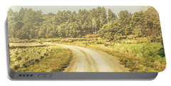 Countryside Road In Outback Australia Portable Battery Charger
