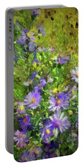 County Wild Flowers Portable Battery Charger by Cedric Hampton
