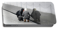 Couple At Vietnam Wall Portable Battery Charger