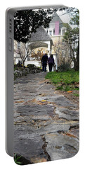 Couple On A Garden Path Portable Battery Charger
