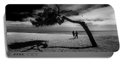Portable Battery Charger featuring the photograph Couple On Cabrillo Beach By Los Angeles California by Randall Nyhof