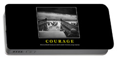 Courage -- D Day Poster Portable Battery Charger
