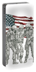 Courage In Brotherhood Portable Battery Charger
