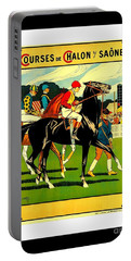 Courses De Chalon French Horse Racing 1911 II Leon Gambey Portable Battery Charger