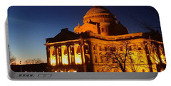 Courthouse At Night Portable Battery Charger