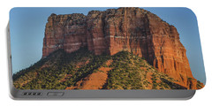Courthouse Butte At Sunset Portable Battery Charger