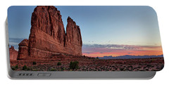 Courthouse Towers Arches National Park At Dawn Portable Battery Charger