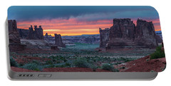 Courthouse Towers Arches National Park Portable Battery Charger