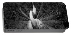 Portable Battery Charger featuring the photograph Courtship Plumes by John F Tsumas