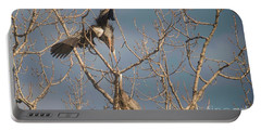 Portable Battery Charger featuring the photograph Courtship Ritual Of The Great Blue Heron by David Bearden