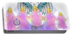 Portable Battery Charger featuring the digital art Cousins by Barbara Tristan