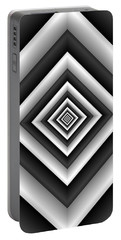 Covariance  6 Modern Geometric Black White Portable Battery Charger