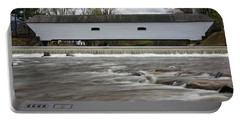 Covered Bridge In March Portable Battery Charger