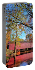 Covered Bridge In Maryland In Autumn Portable Battery Charger