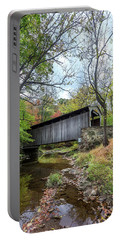Covered Bridge In Pennsylvania During Autumn Portable Battery Charger