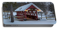 Covered Bridge In The Winter Portable Battery Charger