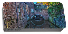 Covered Canal In Den Bosch Portable Battery Charger by Frans Blok