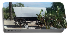 Portable Battery Charger featuring the photograph Covered Wagon by Jay Milo