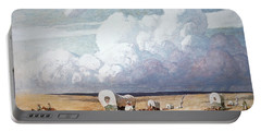 Covered Wagons Heading West Portable Battery Charger