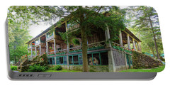 Portable Battery Charger featuring the photograph Covewood Lodge On Big Moose Lake by David Patterson