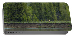 Cow Elk On The Riverbank Portable Battery Charger