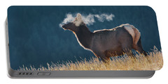 Cow Elk With Steamy Breath Portable Battery Charger
