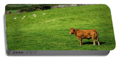 Cow In Pasture Portable Battery Charger