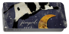 Cow Jumped Over The Moon Portable Battery Charger