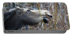 Cow Moose Dining On Willow Portable Battery Charger