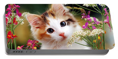 Cow Parsley Cat Portable Battery Charger