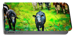 Portable Battery Charger featuring the photograph Cow Patch by Craig J Satterlee
