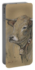 Cow Portrait Painting Portable Battery Charger