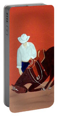 Cowboy And His Horse Portable Battery Charger