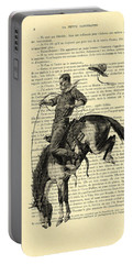 Cowboy And Horse, Western Art Portable Battery Charger