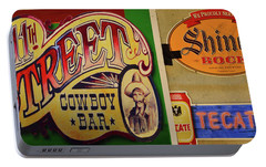 Portable Battery Charger featuring the photograph Cowboy Bar And Beer by Nadalyn Larsen
