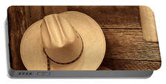 Cowboy Hat In Town Portable Battery Charger