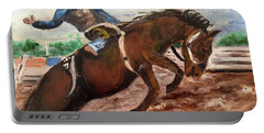 Cowboy In A Rodeo Portable Battery Charger