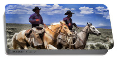 Cowboys On Horseback Riding The Range Portable Battery Charger