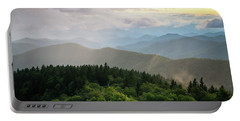 Cowee Mountain Sunset 4 Portable Battery Charger by Serge Skiba