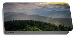 Cowee Mountain Sunset Portable Battery Charger by Serge Skiba